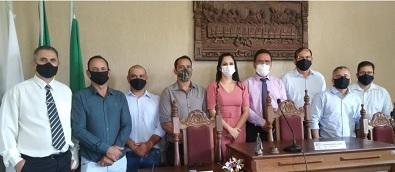 Prefeito, vice-prefeito e vereadores eleitos em Bambuí são diplomados em cerimônia virtual
