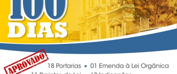 Prestação de Contas do Biênio 2021/2022 da Câmara Municipal de Bambuí em 100 dias de Processo Legislativo